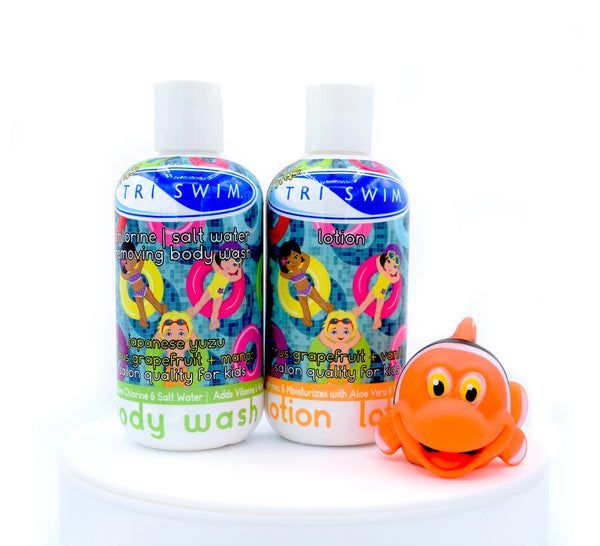 TRISWIM Kids Body Wash / Lotion Gift Set in cello bag