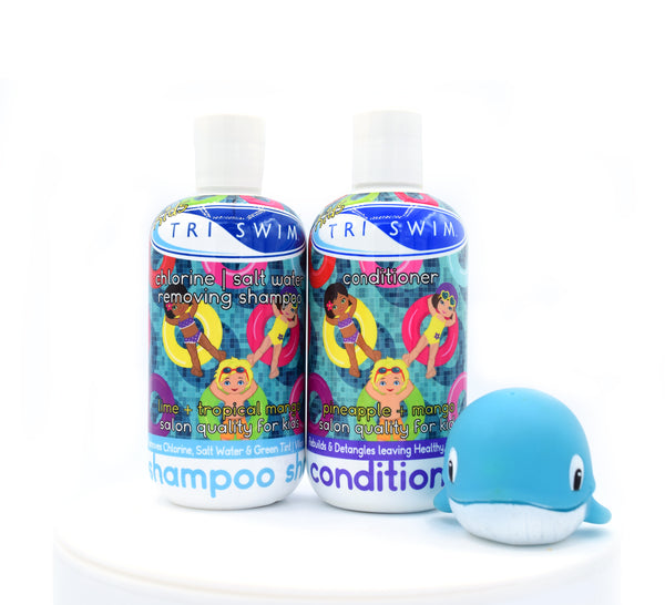 TRISWIM Kids Shampoo / Conditioner Gift Set in Cello Bag