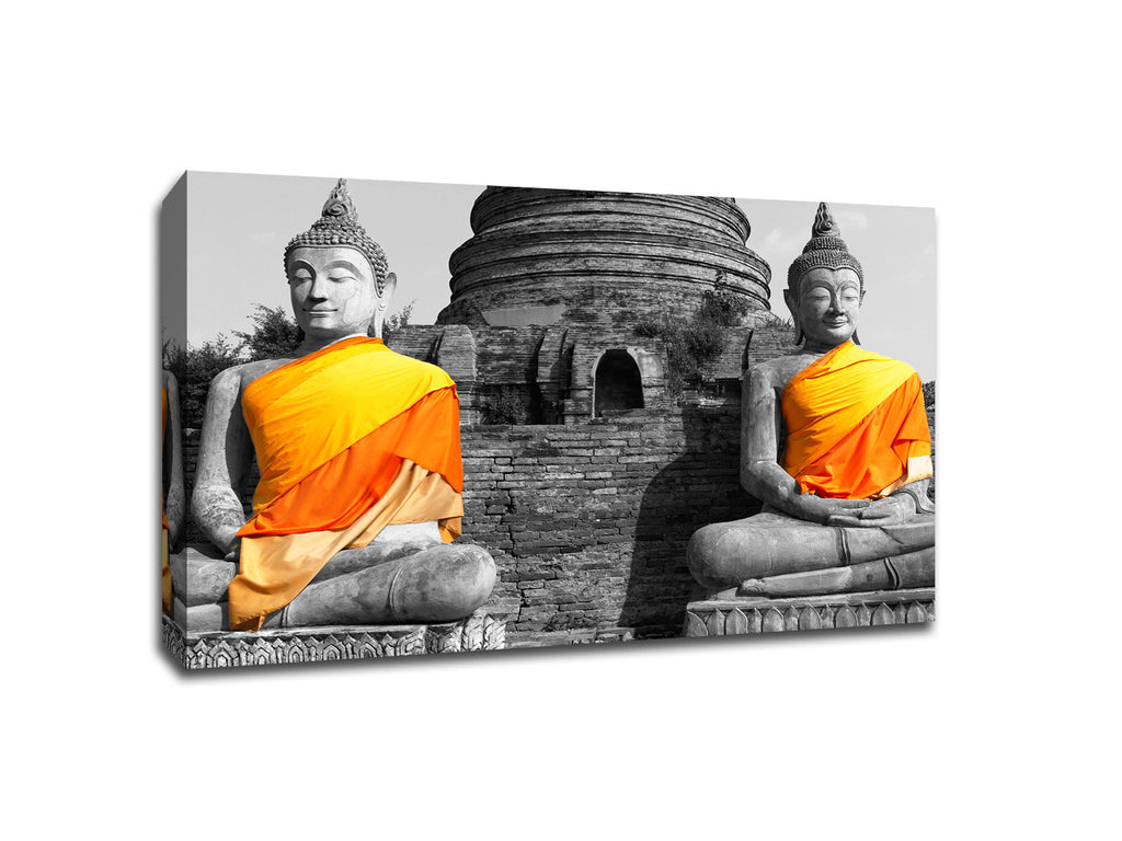 Buddha Statues Bangkok Touch of Color Canvas