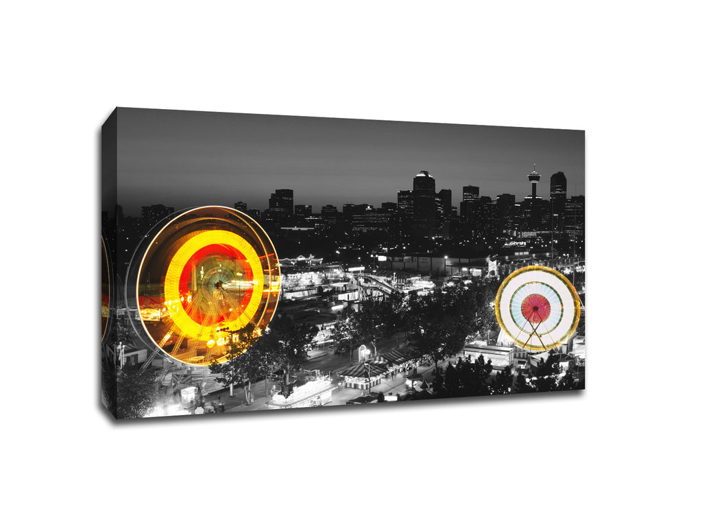 Calgary Stampede Touch of Color Canvas