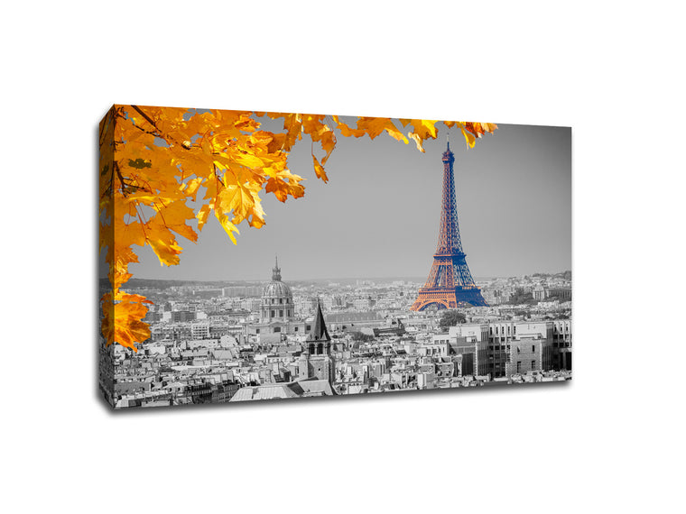 Eiffel Tower in Fall Touch of Color Canvas