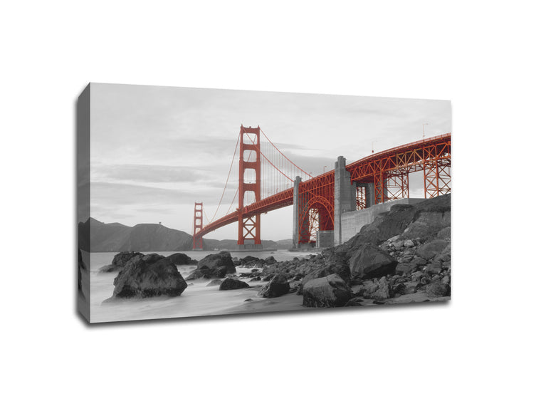 Golden Gate Bridge Touch of Color Canvas