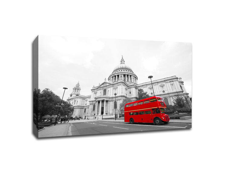 London Routemaster Bus Touch of Color Canvas