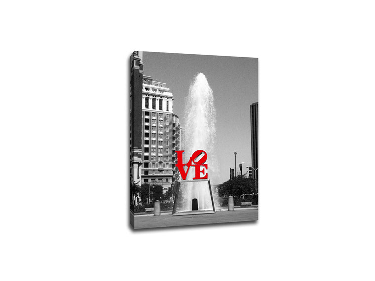LOVE Park Philadelphia Touch of Color Canvas