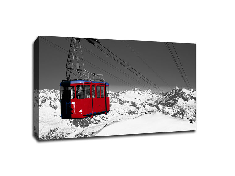 Gondola Lift Touch of Color Canvas