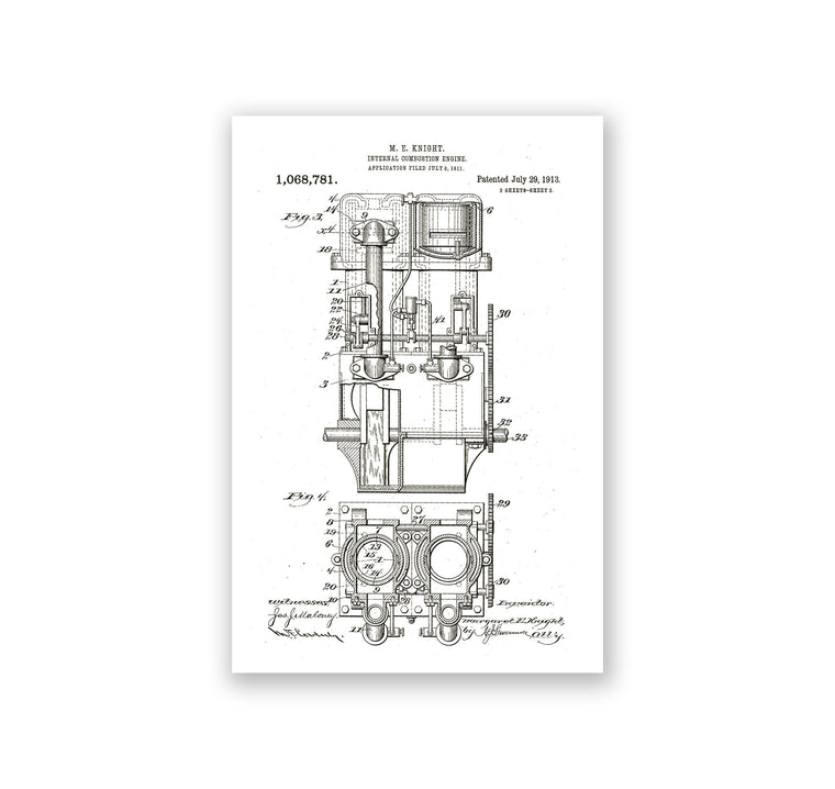 Internal Combustion Engine Poster