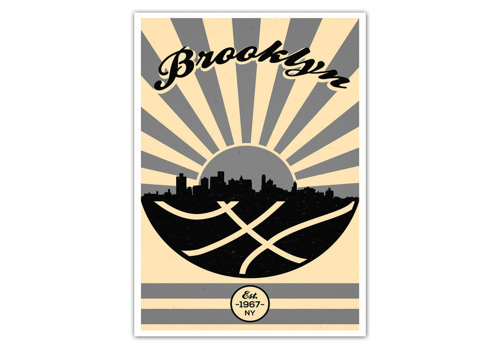 Brooklyn Vintage Basketball Poster
