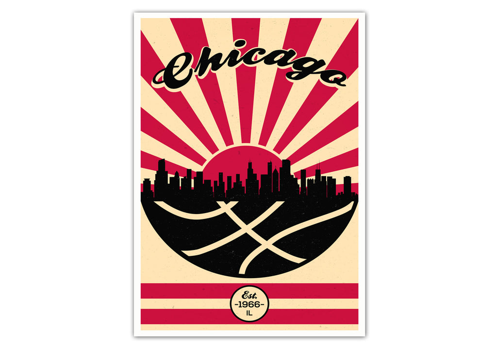 Chicago Vintage Basketball Poster