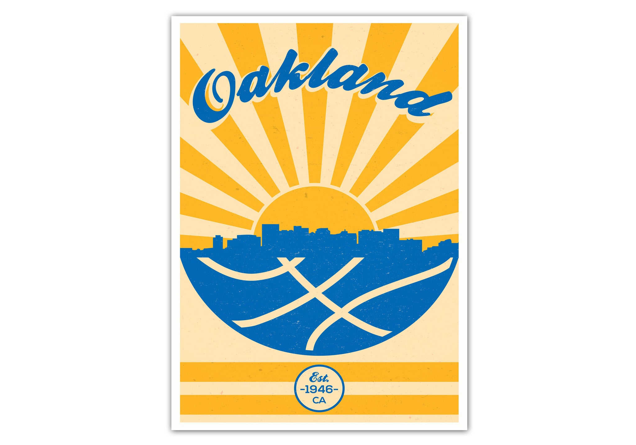 Golden State Vintage Basketball Poster - Weekly Wall Art
