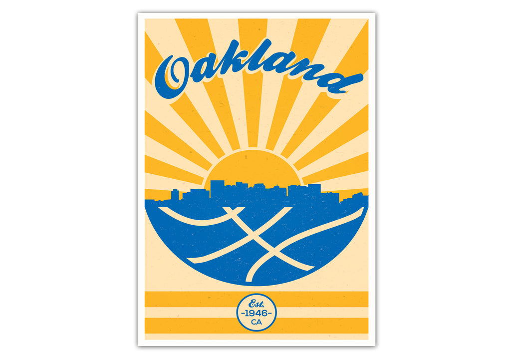 Golden State Vintage Basketball Poster