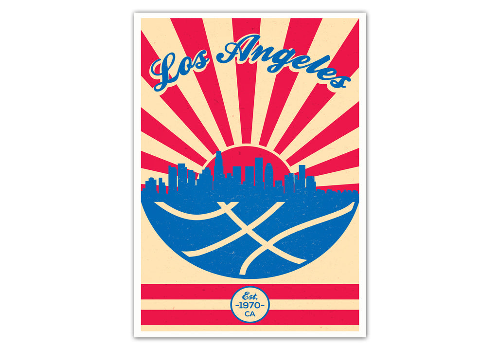 Los Angeles Vintage Basketball Poster
