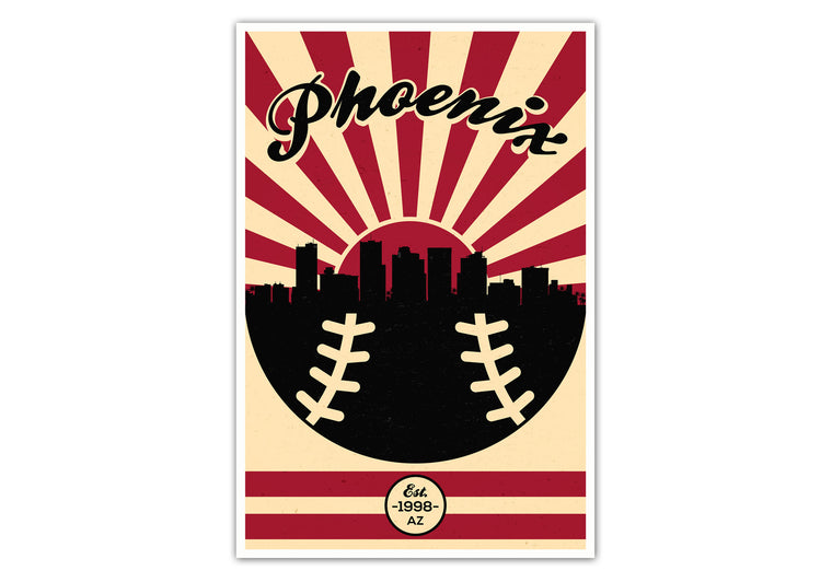 Arizona - Vintage Baseball - Matte Poster Print Wall Art