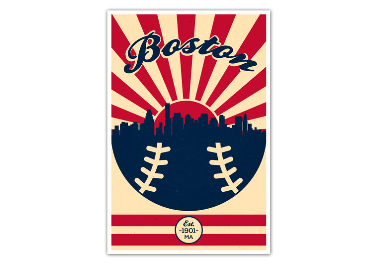 Boston - Vintage Baseball - Matte Poster Print Wall Art