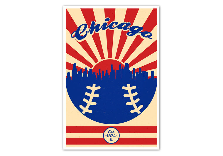 Chicago - Vintage Baseball - Matte Poster Print Wall Art