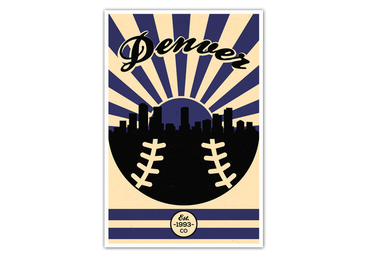 Colorado - Vintage Baseball - Matte Poster Print Wall Art