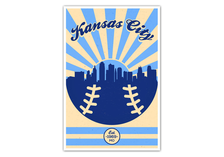 Kansas City - Vintage Baseball - Matte Poster Print Wall Art