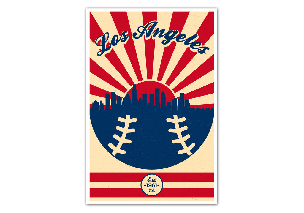 Los Angeles - Vintage Baseball - Matte Poster Print Wall Art