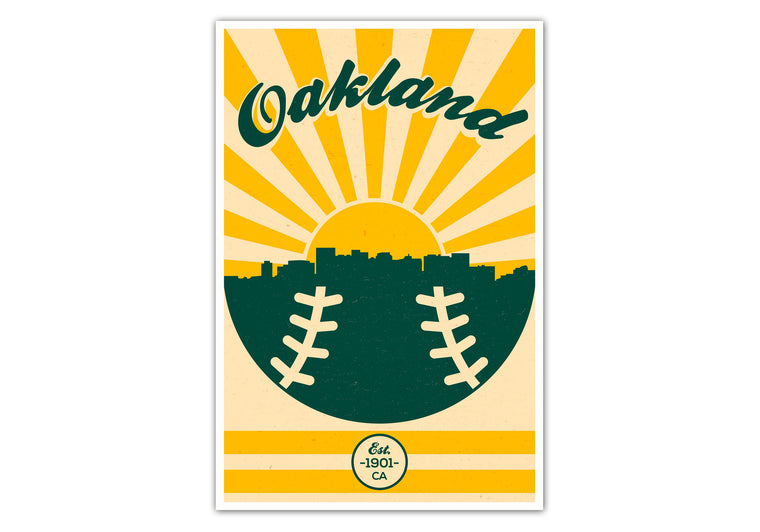 Oakland Athletics - Vintage Baseball - Matte Poster Print Wall Art