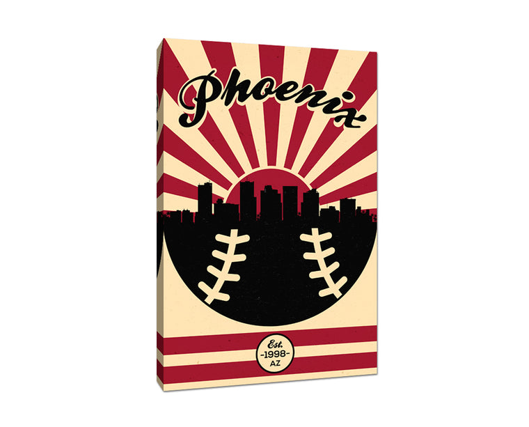 Arizona - Vintage Baseball - Canvas Wall Art