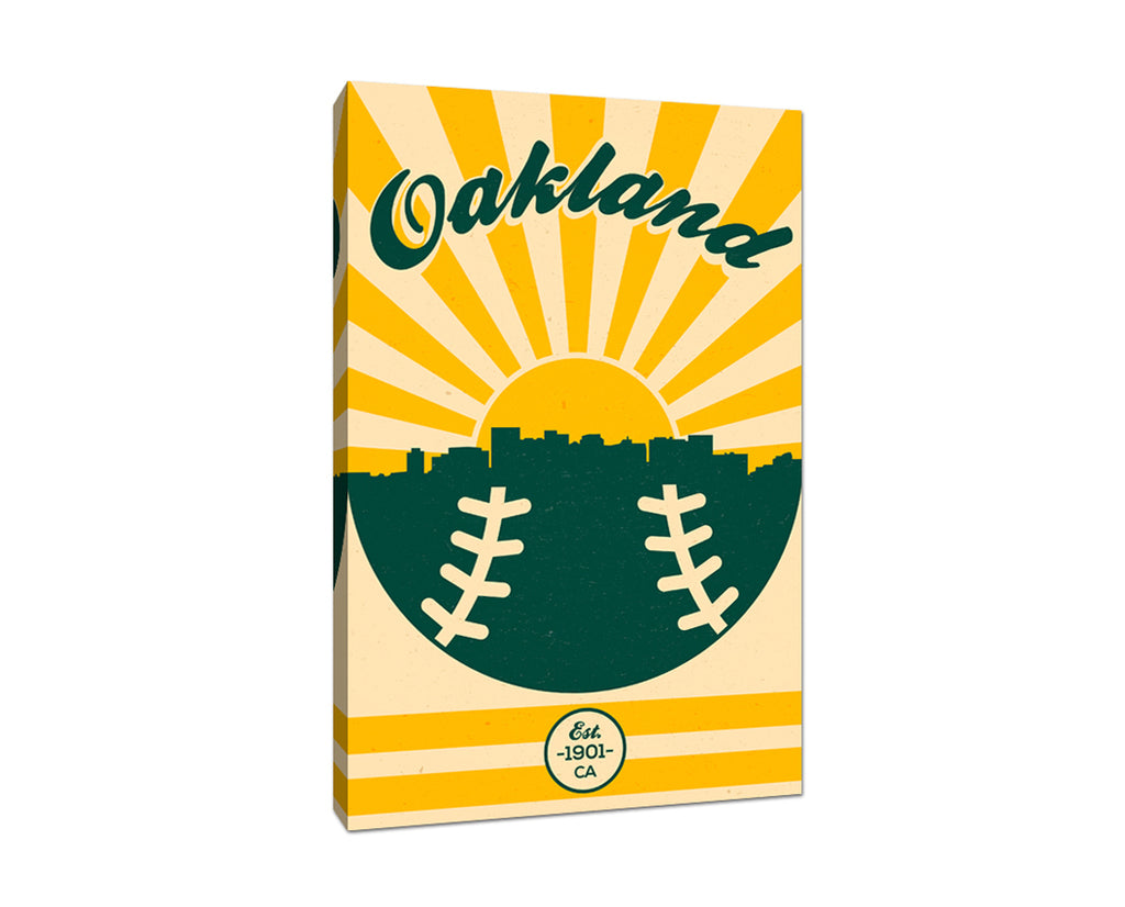 Oakland Athletics - Vintage Baseball - Canvas Wall Art
