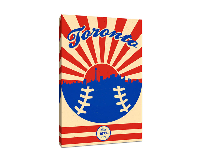 Toronto - Vintage Baseball - Canvas Wall Art