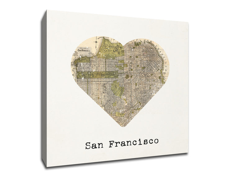 A unique Canvas showing love to your favorite city.