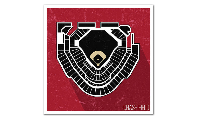Arizona Baseball Ballpark Seat Map Poster