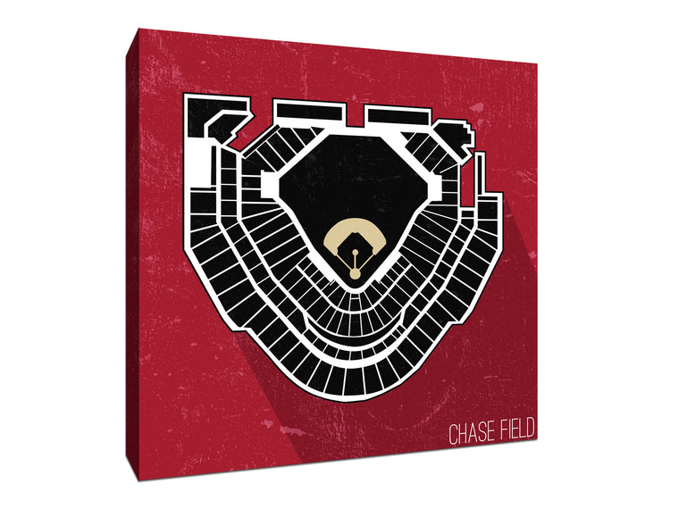 Arizona Baseball Ballpark Seat Map Canvas