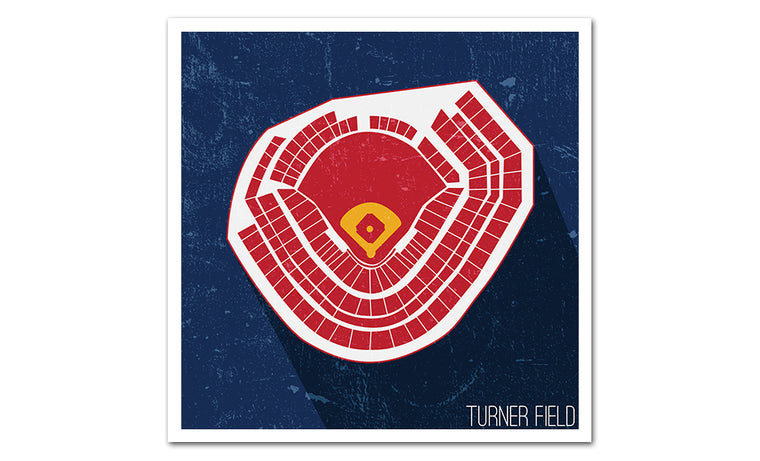 Atlanta Baseball Ballpark Seat Map Poster