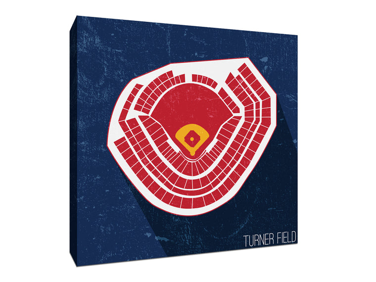 Atlanta Baseball Ballpark Seat Map Canvas