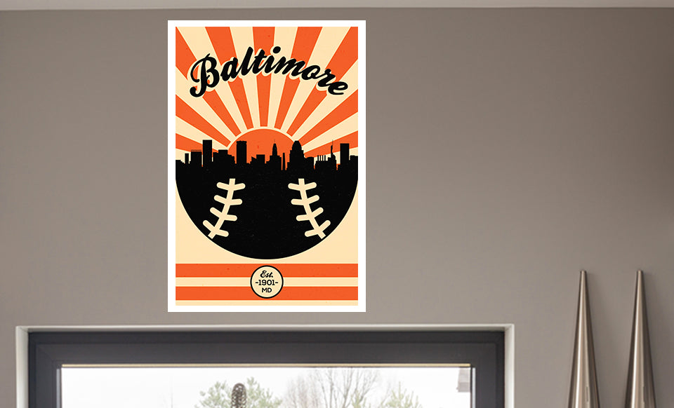 Baltimore - Vintage Baseball - Matte Poster Print Wall Art - Weekly ...