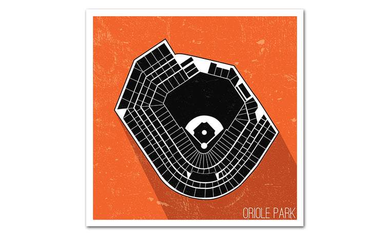 Baltimore Baseball Ballpark Seat Map Poster