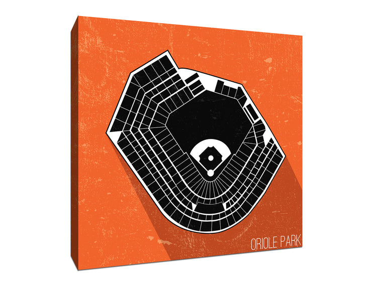 Baltimore Baseball Ballpark Seat Map Canvas