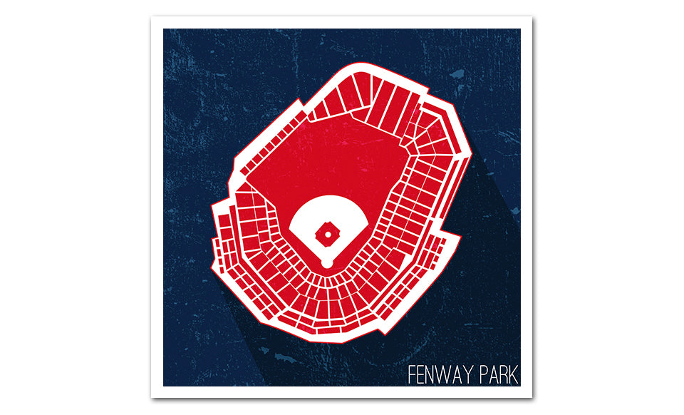 Boston Baseball Ballpark Seat Map Poster