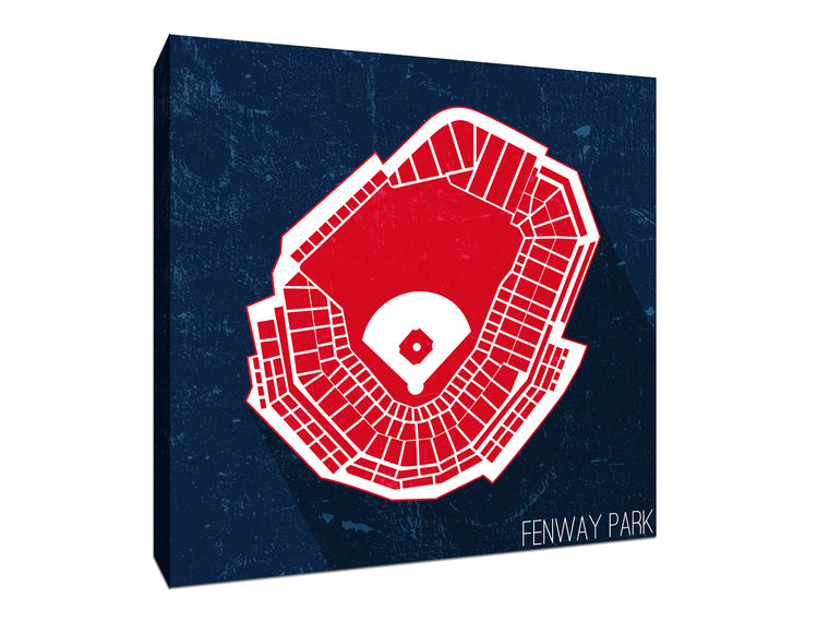 Boston Baseball Ballpark Seat Map Canvas