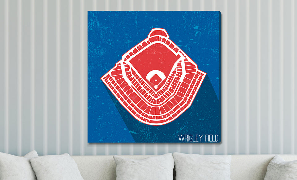 Chicago (C) Baseball Ballpark Seat Map Canvas