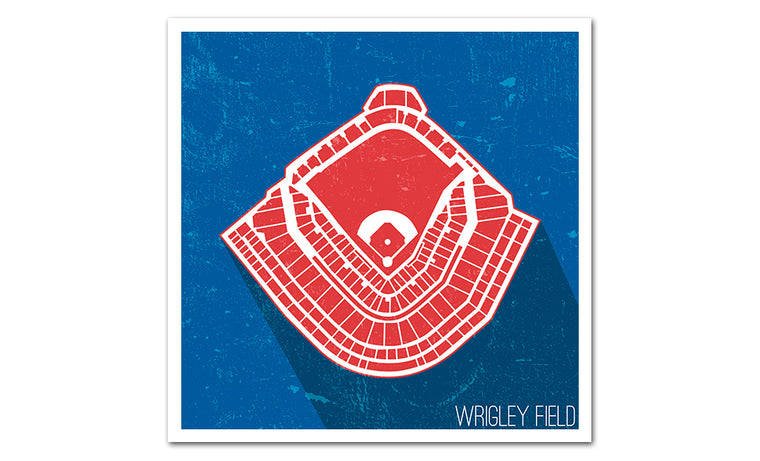 Chicago Baseball Ballpark Seat Map Poster
