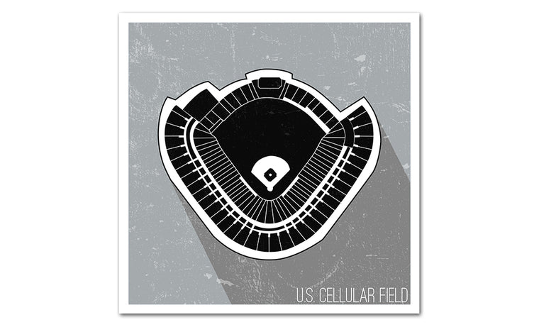 Chicago (South Side) Baseball Ballpark Seat Map Poster