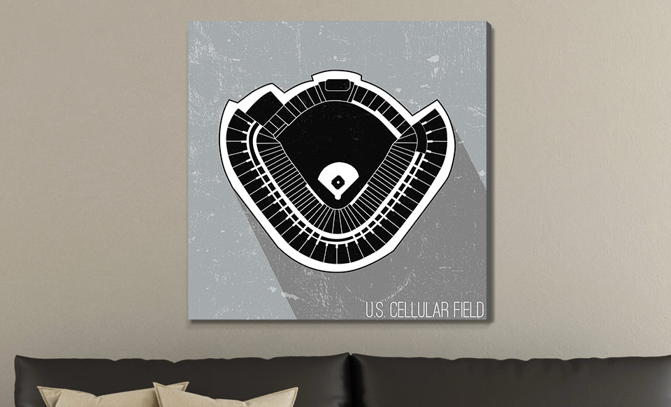 Chicago Map Canvas.Chicago W Baseball Ballpark Seat Map Canvas Weekly Wall Art