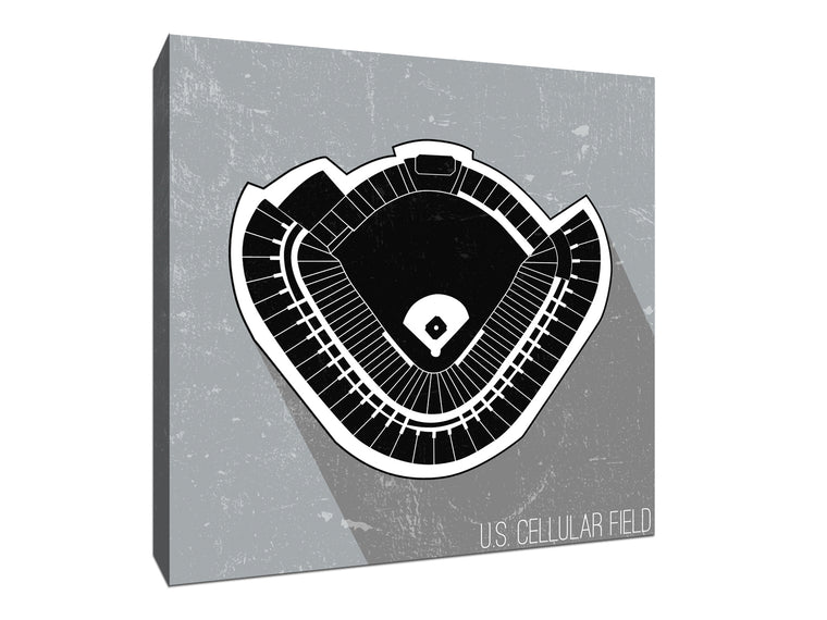 Chicago (W) Baseball Ballpark Seat Map Canvas