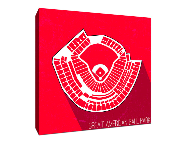 Cincinnati Baseball Ballpark Seat Map Canvas