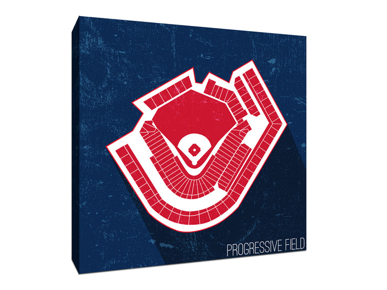 Cleveland Baseball Ballpark Seat Map Canvas