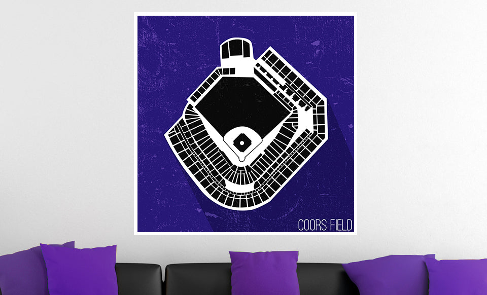 Colorado Baseball Ballpark Seat Map Poster