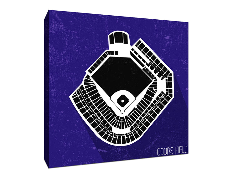 Colorado Baseball Ballpark Seat Map Canvas