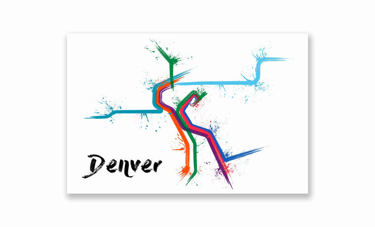 Denver Splatter Train Map Poster