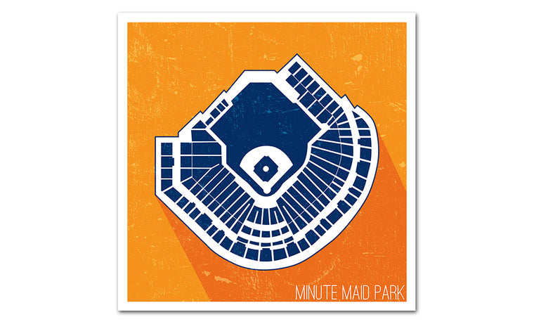 Houston Baseball Ballpark Seat Map Poster