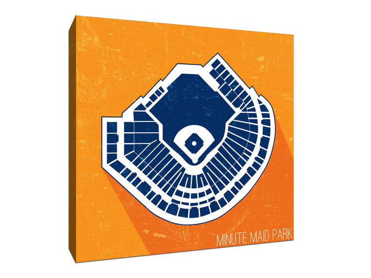 Houston Baseball Ballpark Seat Map Canvas