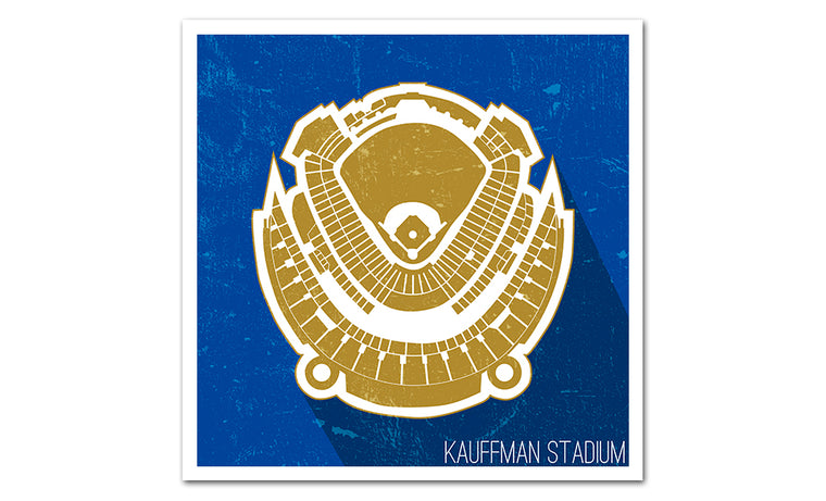 Kansas City Baseball Ballpark Seat Map Poster