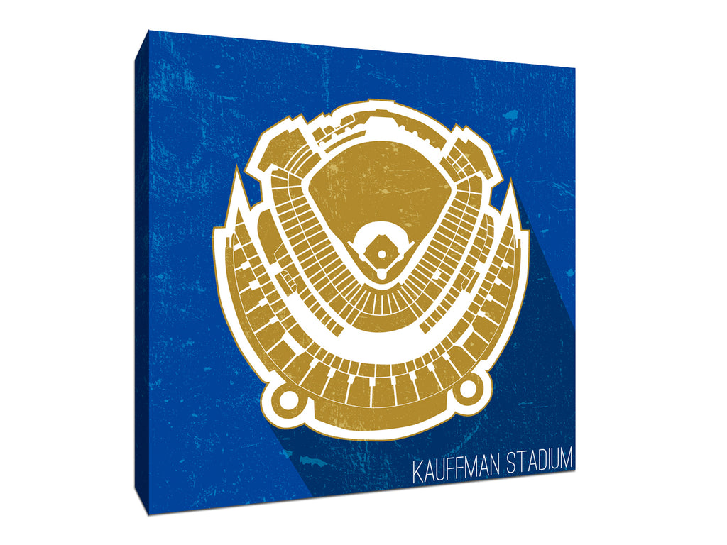 Kansas City Baseball Ballpark Seat Map Canvas