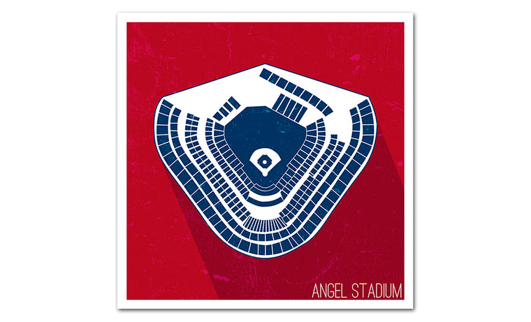 Anaheim Baseball Ballpark Seat Map Poster